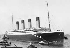 SS Olympic arriving New York